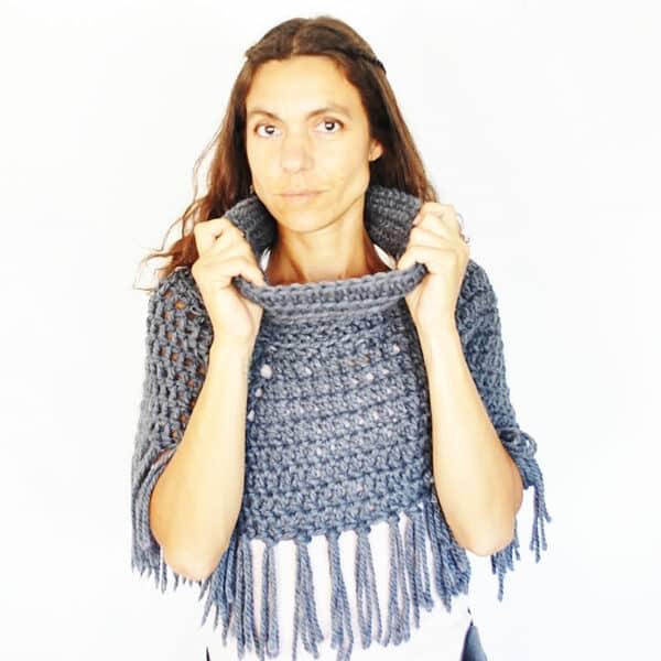 patron crochet poncho facil para principiantes