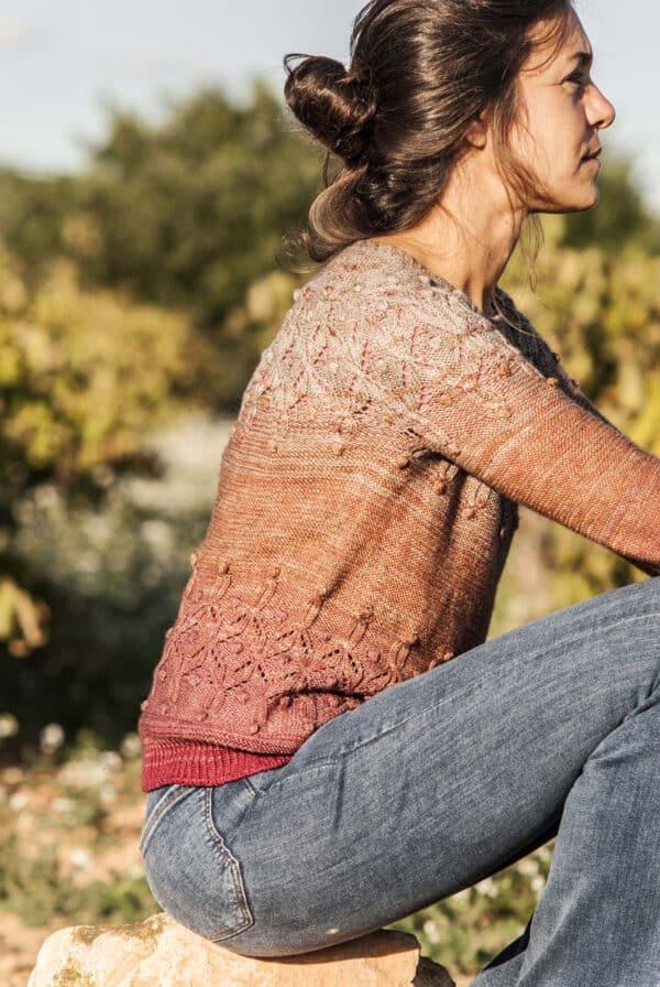 cómo tejer un suéter con canesú circular