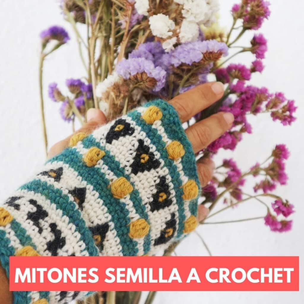 mitones a crochet
