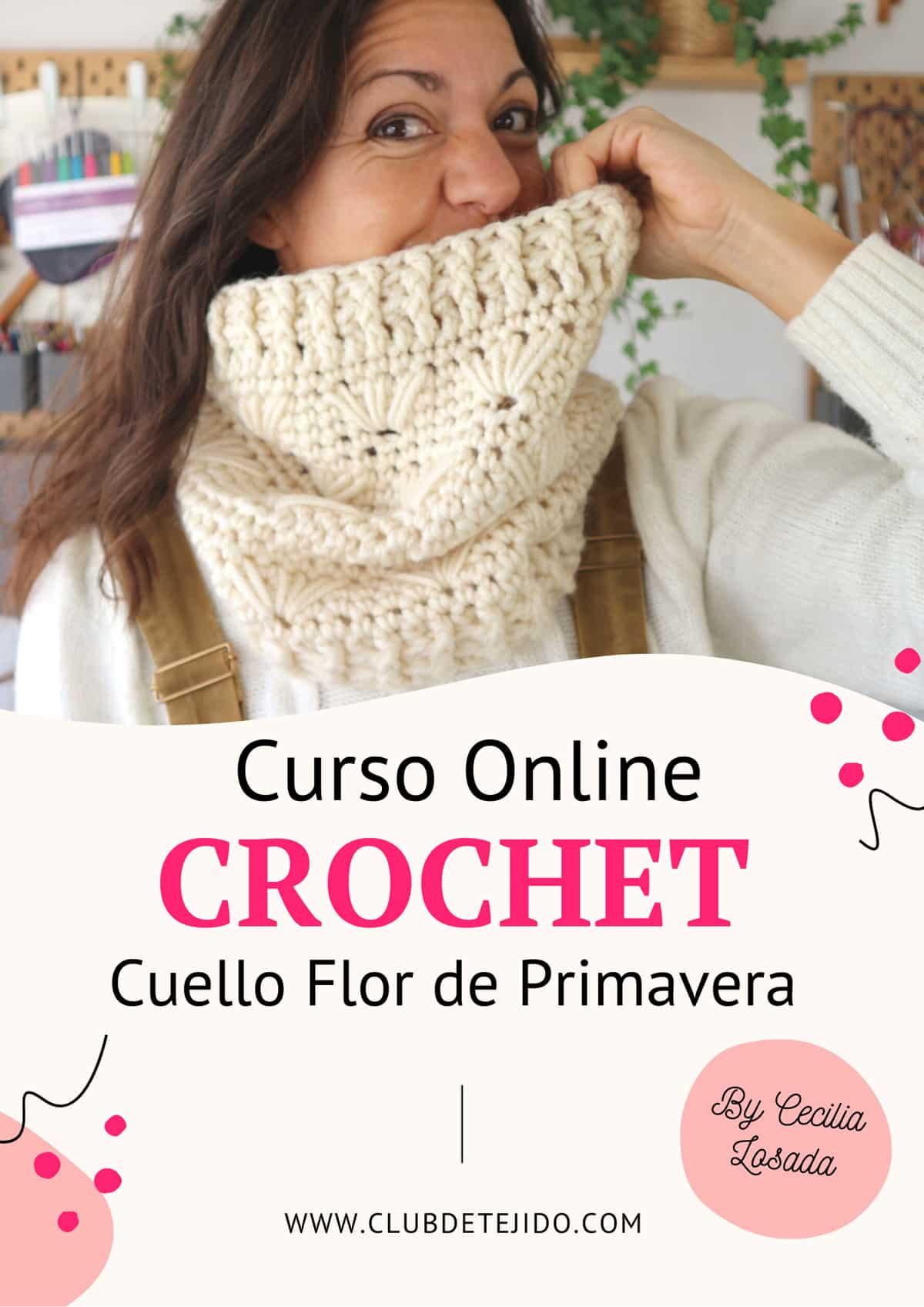 Curso de Crochet Online gratis Cuello Flor de Primavera en Club de Tejido