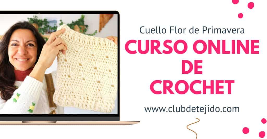 Curso de Crochet Online Gratis Cuello Flor de Primavera por Cecilia Losada