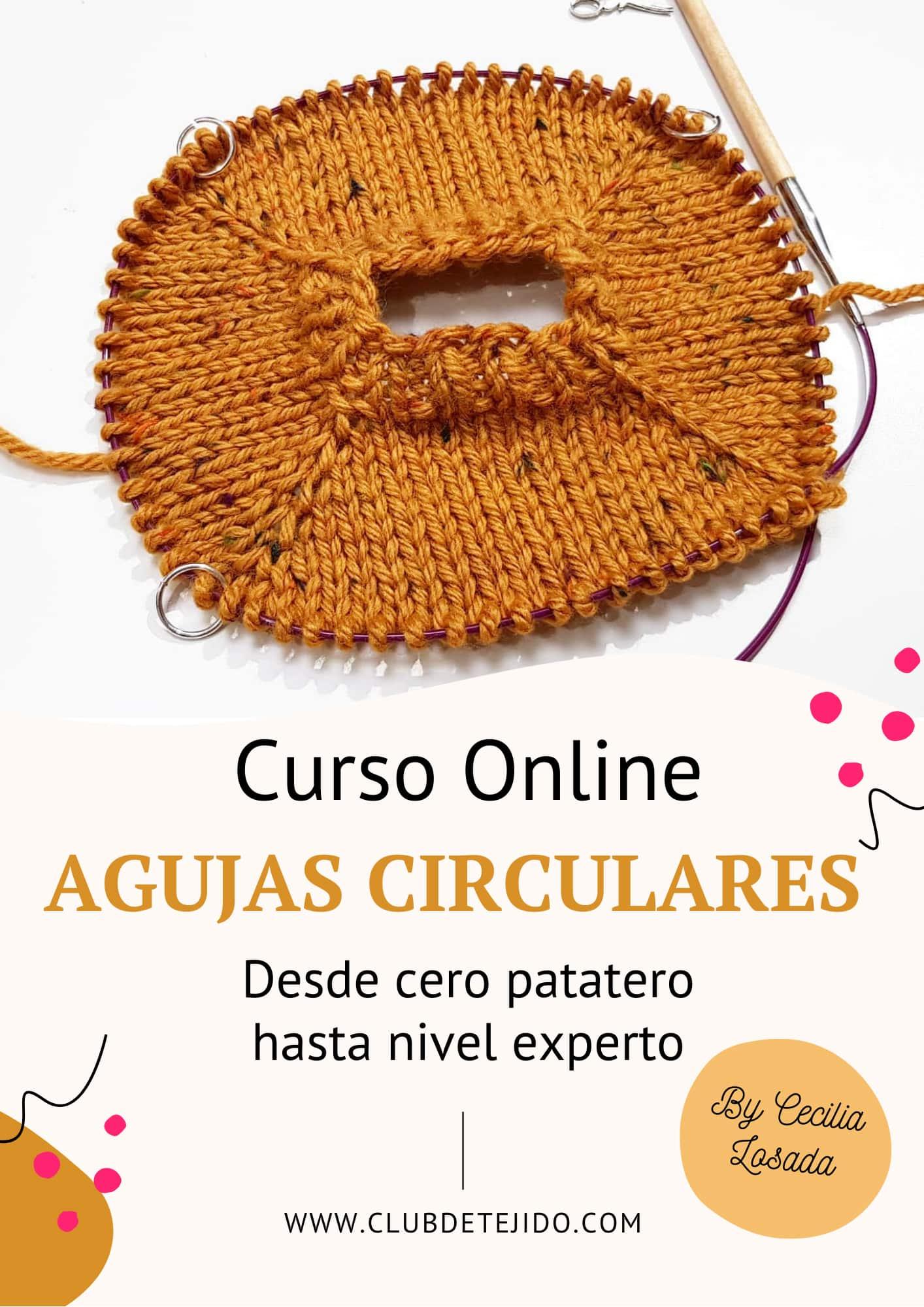 aprende a tejer con agujas circulares para principiantes