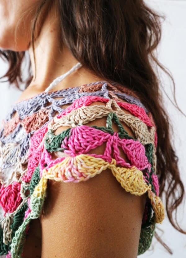 top a crochet beija flor
