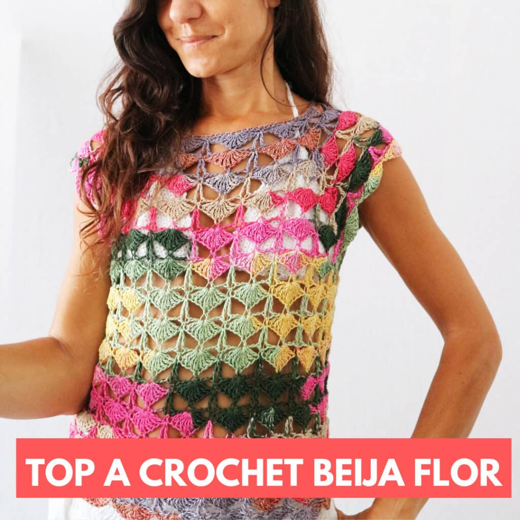 top a crochet beija flor