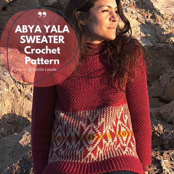 patrón suéter mujer crochet