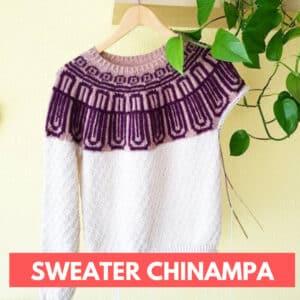 sweater con canesú circular