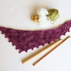 Chal triangular boomerang a crochet