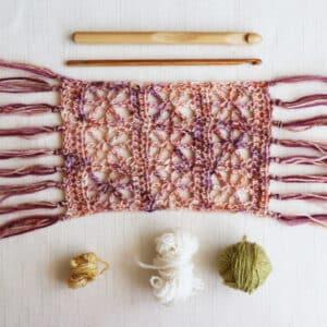 chal rectangular de lado a lado a crochet