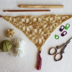 chal triangular bottom up a crochet