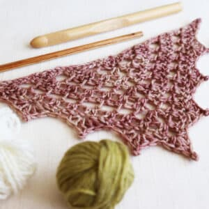 chal triangular top down a crochet