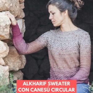 sweater con canesú circular alkharif