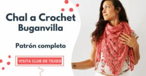 chal a crochet buganvilla club de tejido