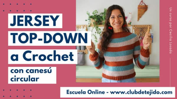curso jersey top down a crochet